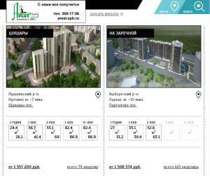 Каталог строящихся жилых комплексов Петербурга