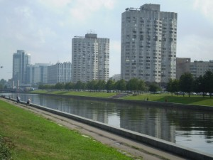 Вид на Новосмоленскую набережную